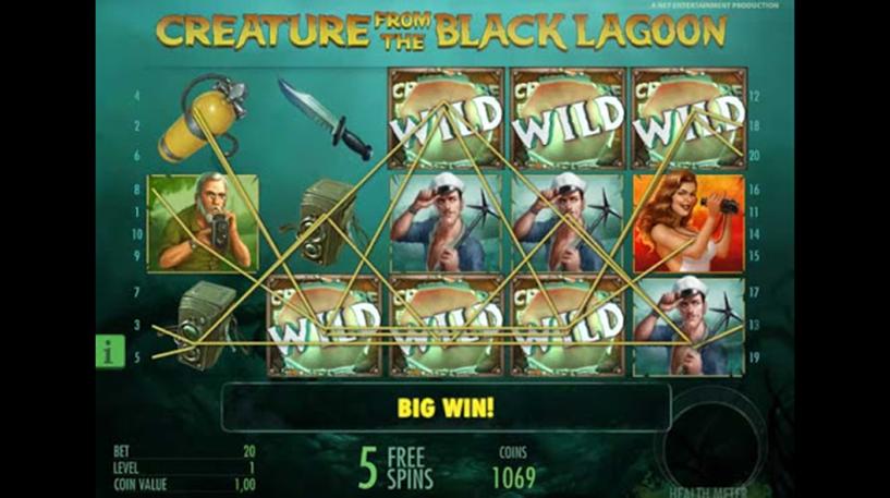 Creature From Black Lagoon Slot Screenshot 2