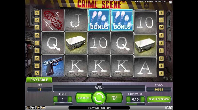 Crime Scene Slot Screenshot 1