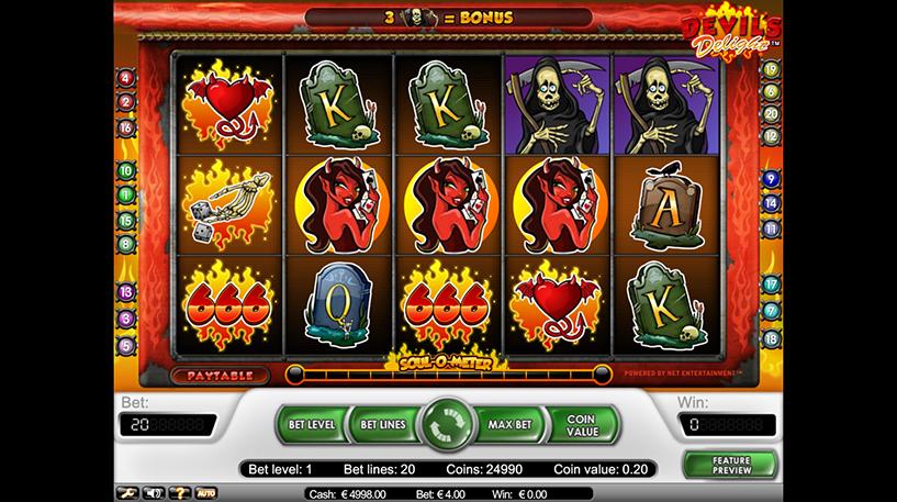 Devil's Delight Slot Screenshot 1
