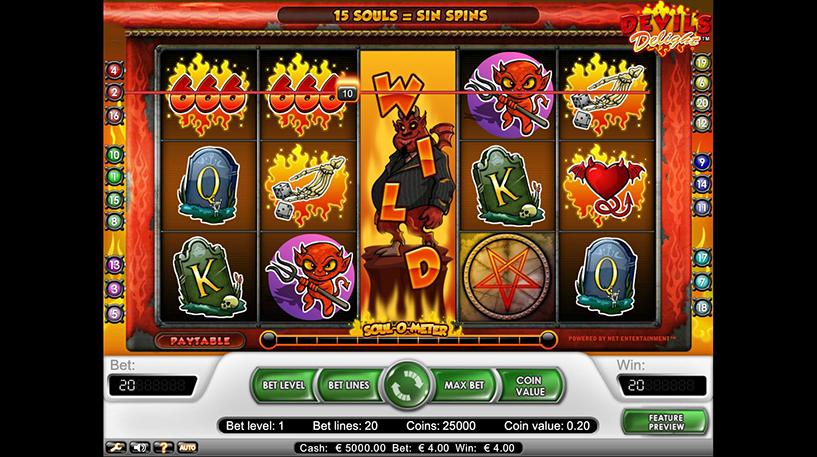 Devil's Delight Slot Screenshot 2
