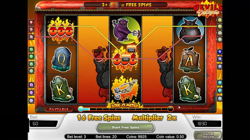 Devil's Delight Slot Screenshot 3