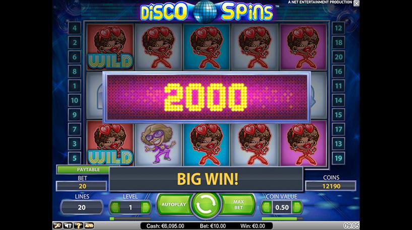 Disco Spins Slot Screenshot 1