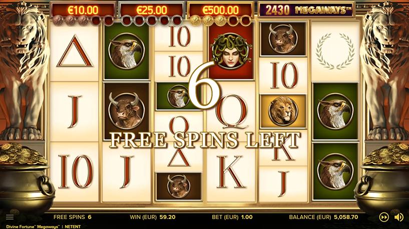 Divine Fortune Megaways Slot Screenshot 3