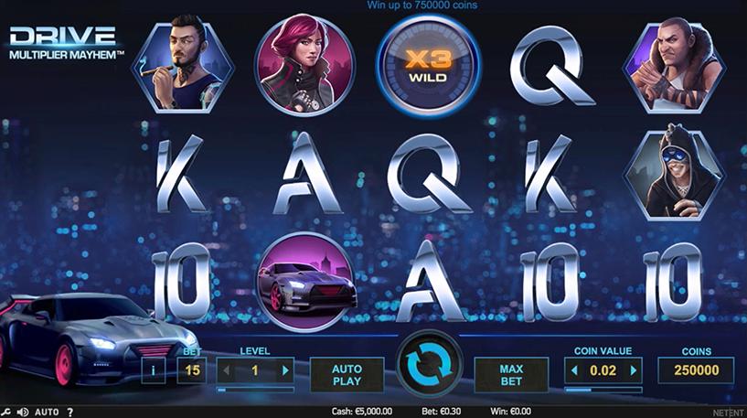 Drive: Multiplier Mayhem Slot Screenshot 2