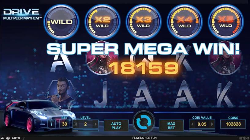 Drive: Multiplier Mayhem Slot Screenshot 1