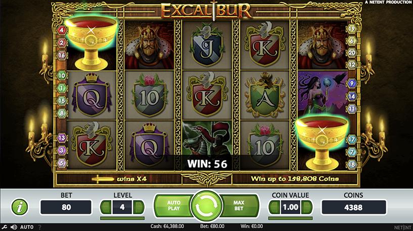 Excalibur Slot Screenshot 1