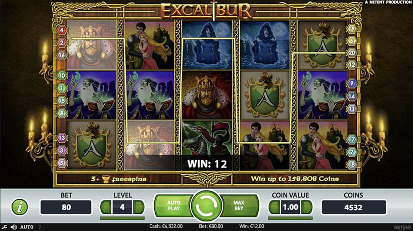 Excalibur Slot Screenshot 2