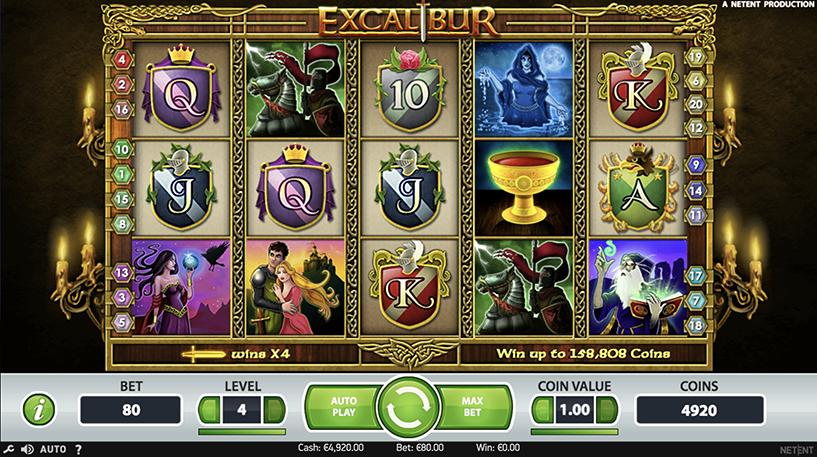 Excalibur Slot Screenshot 3