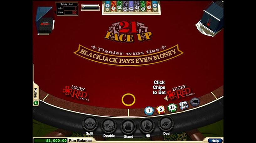 Face Up 21 Blackjack Screenshot 1