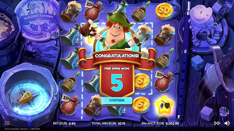 Finn's Golden Tavern Slot Screenshot 2