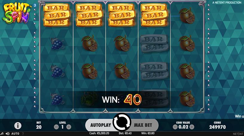 Fruit Spin Slot Screenshot 1
