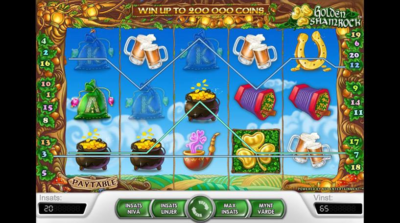 Golden Shamrock Slot Screenshot 1