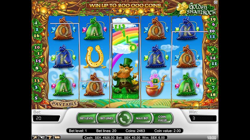 Golden Shamrock Slot Screenshot 2