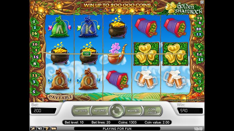 Golden Shamrock Slot Screenshot 3