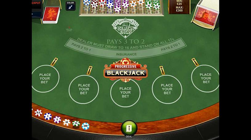 Progressive Blackjack Screenshot 1