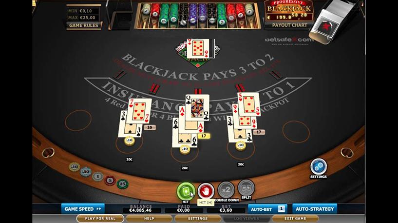 Progressive Blackjack Screenshot 2