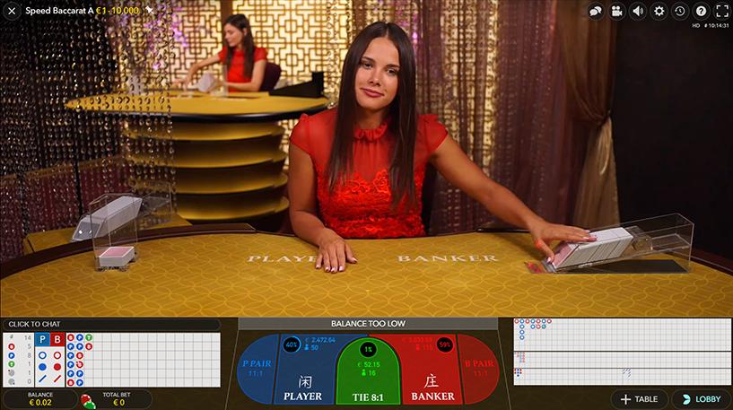 Live Speed Baccarat Screenshot 1