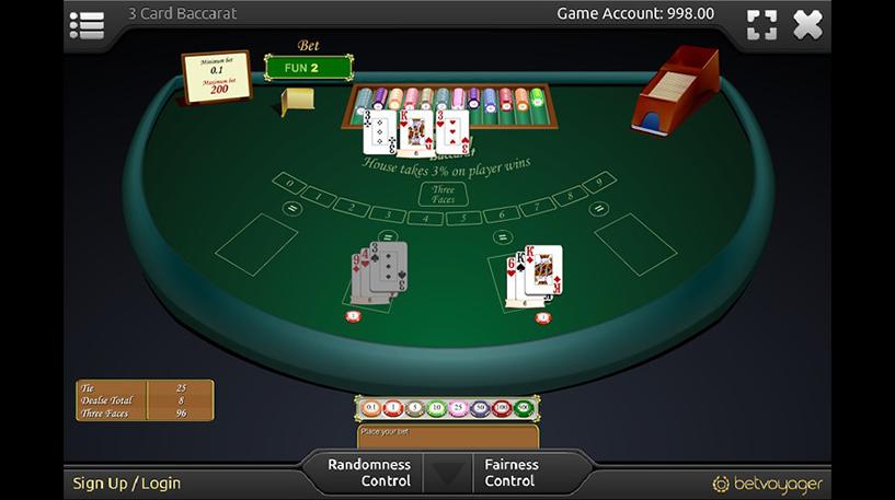 Three-Card Baccarat Screenshot 1