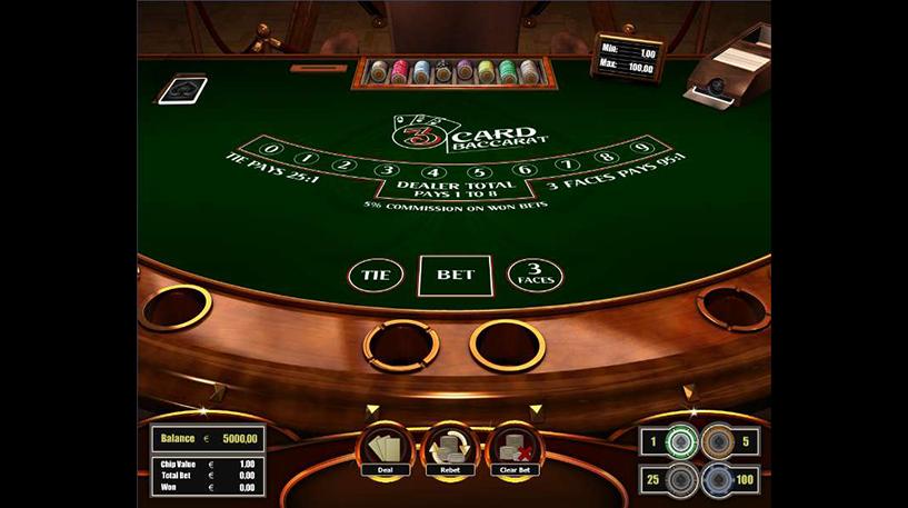 Three-Card Baccarat Screenshot 2