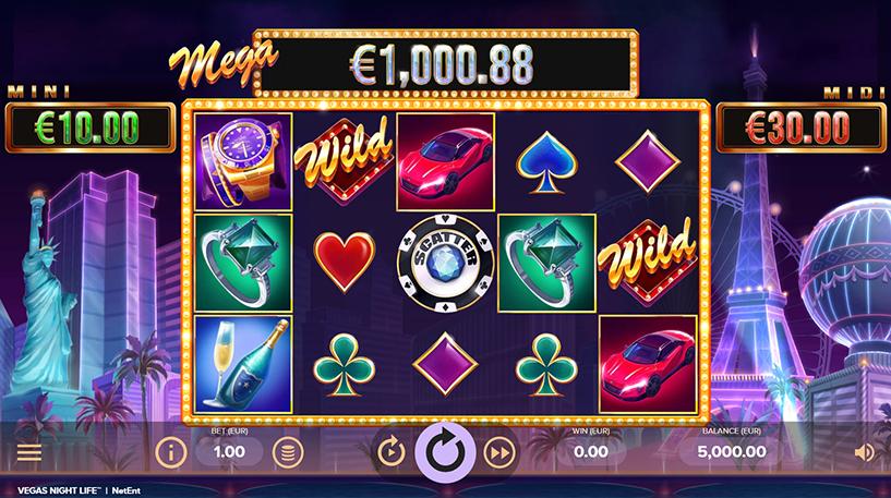 Vegas Night Life Slot Screenshot 1