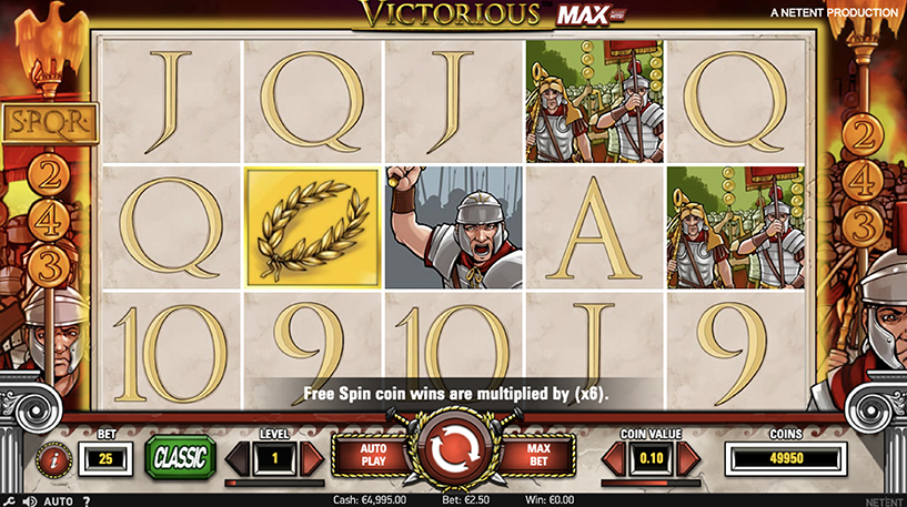 Victorious Max Slot Screenshot 1