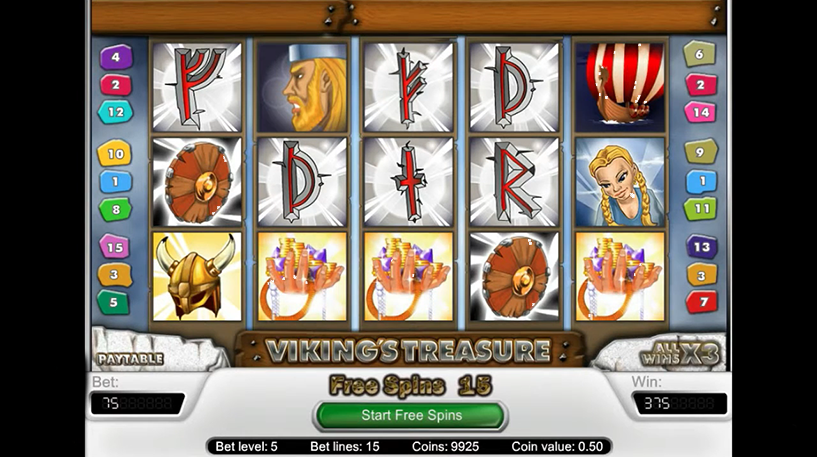 Vikings Treasure Slot Screenshot 1