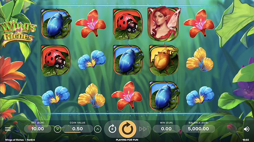 Wings of Riches Slot Screenshot 1
