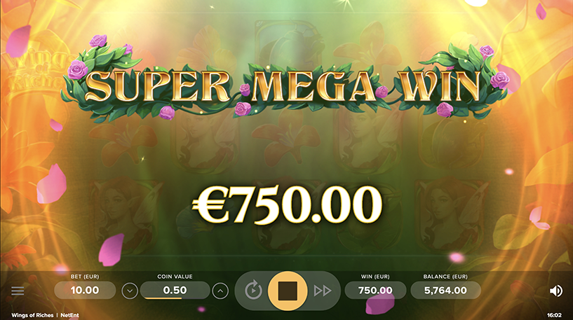 Wings of Riches Slot Screenshot 2
