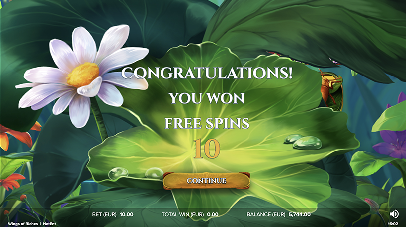 Wings of Riches Slot Screenshot 3