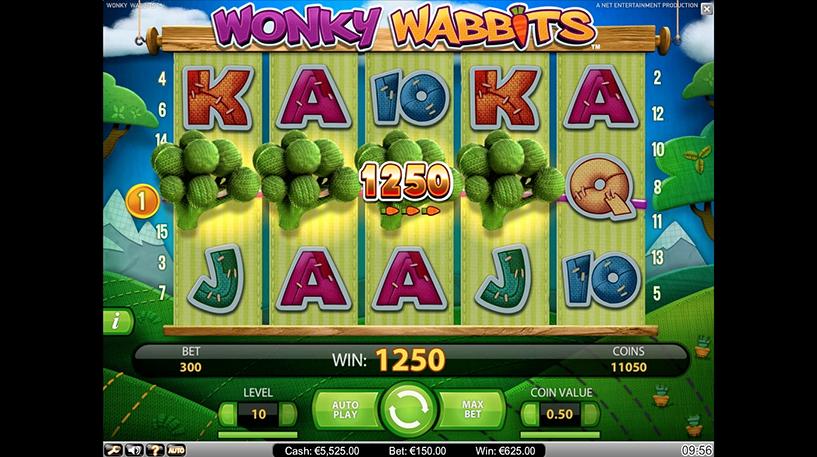 Wonky Wabbits Slot Screenshot 1