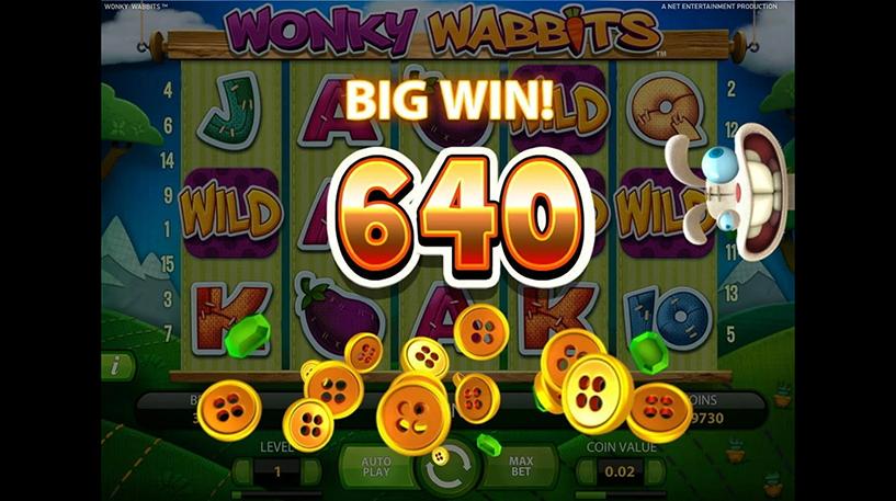 Wonky Wabbits Slot Screenshot 2