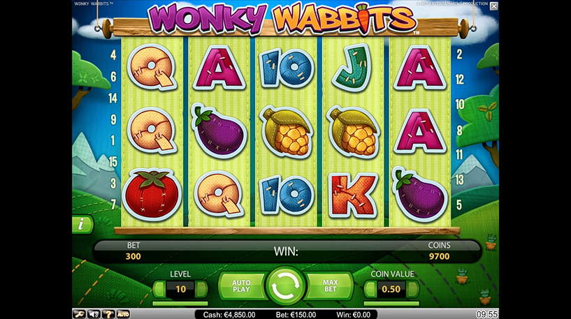 Wonky Wabbits Slot Screenshot 3