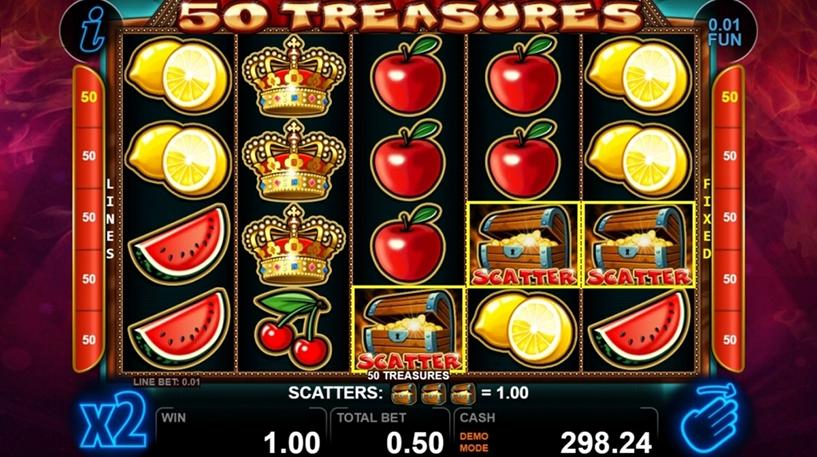 50 Treasures Slot Screenshot 1