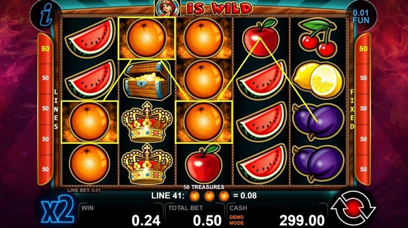 50 Treasures Slot Screenshot 2