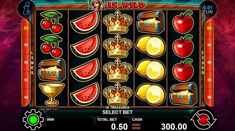 50 Treasures Slot Screenshot 3