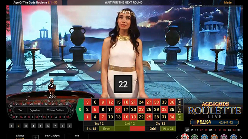 Age of the Gods Roulette Screenshot 2