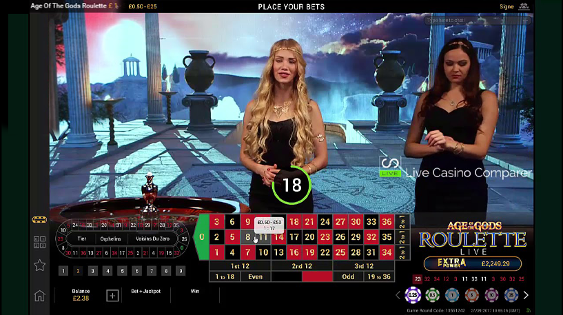 Age of the Gods Roulette Screenshot 3