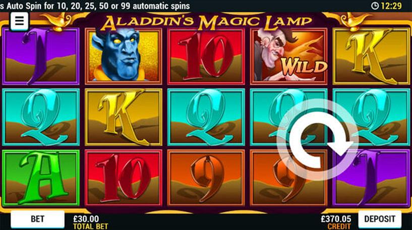 Aladdin's Magic Lamp Slot Screenshot 1