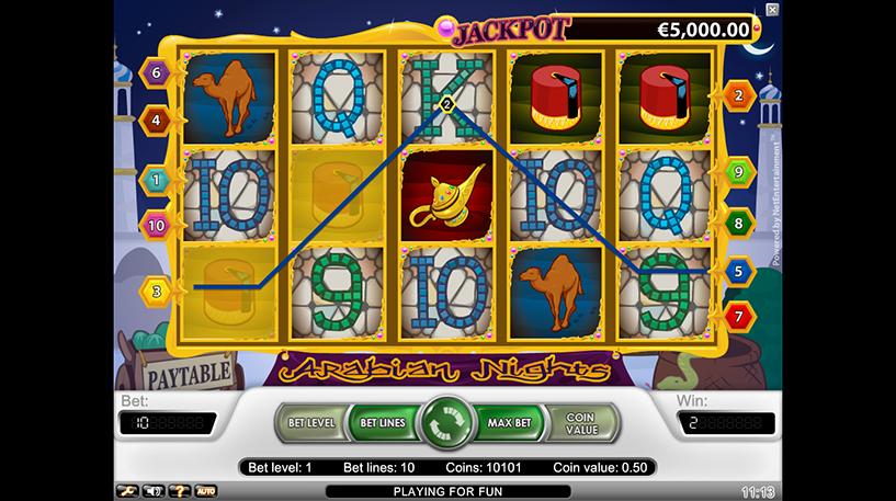 Arabian Nights Slot Screenshot 1