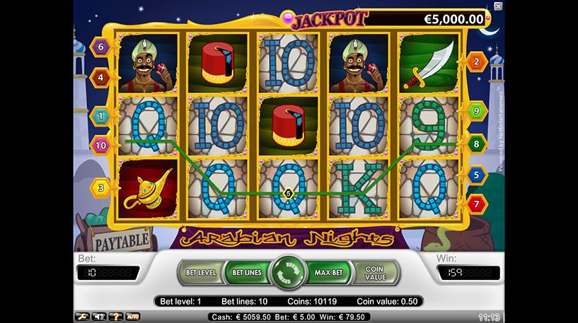 Arabian Nights Slot Screenshot 2