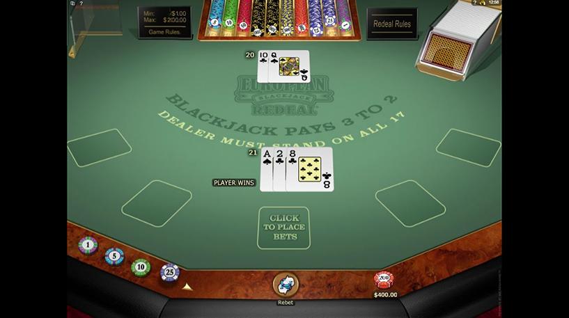 Blackjack Redeal Screenshot 1
