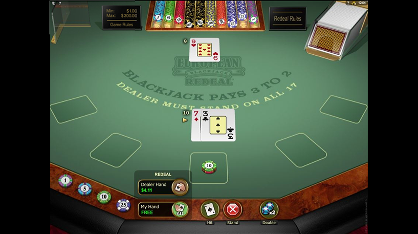 Blackjack Redeal Screenshot 2