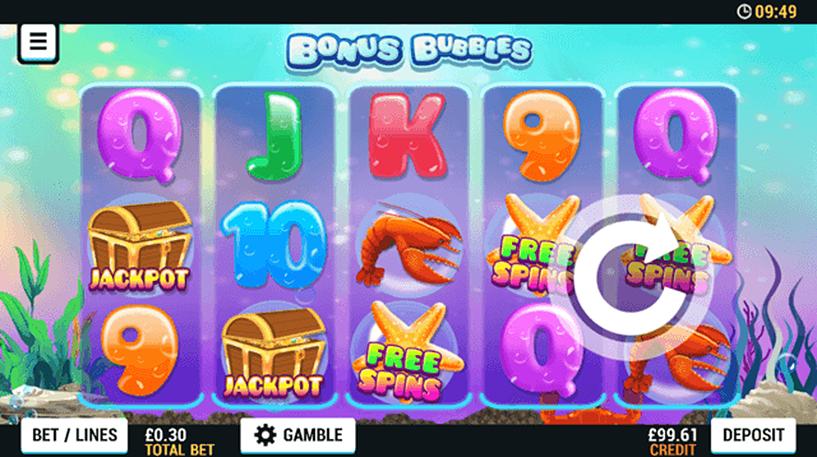 Bonus Bubbles Slot Screenshot 1