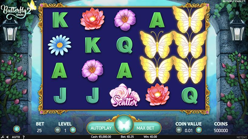Butterfly Staxx 2 Slot Screenshot 1