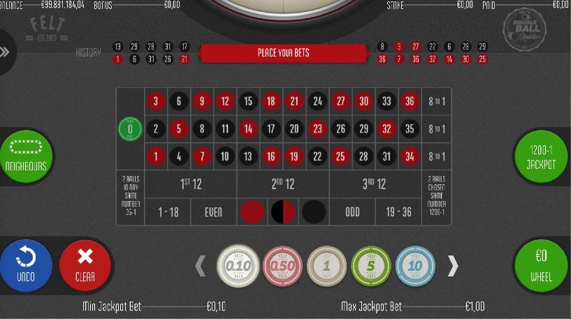 Double Ball Roulette Screenshot 1