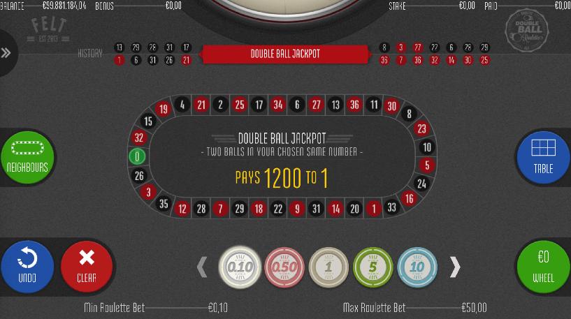 Double Ball Roulette Screenshot 2