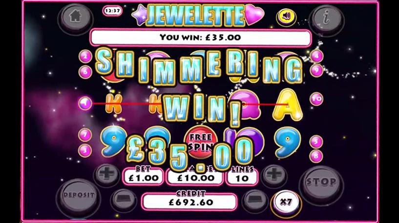 Jewelette Slot Screenshot 1