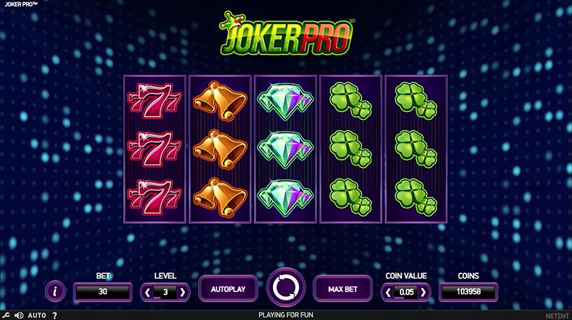 Joker Pro Slot Screenshot 1