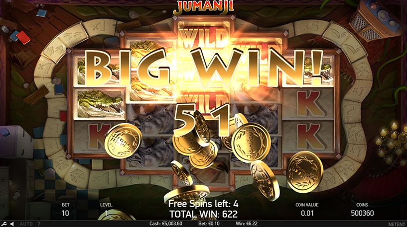 Jumanji Slot Screenshot 2