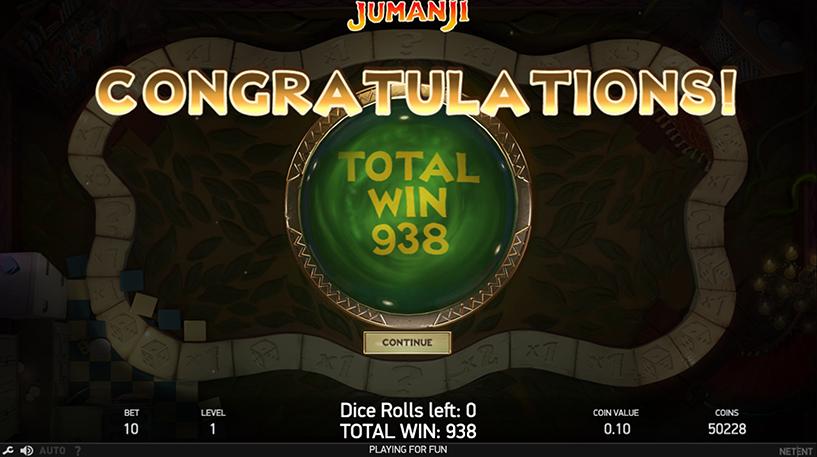 Jumanji Slot Screenshot 1